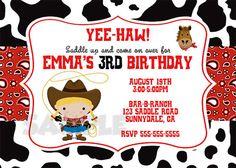 SALE  Cowgirl Digital Birthday Invitation YOU by FarmerDesign, $8.00
