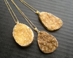 Items similar to Citrine Druzy Necklace Citrine Pendant Citrine Crystal Citrine Jewelry Citrine Cluster Crystal Gold Dipped Stone Mineral Jewelry Quartz on Etsy Citrine Crystal Meaning, Citrine Pendant, Gold Dipped, Quartz, Pendant Necklace, Crystals, Mineral, Jewelry, Stone
