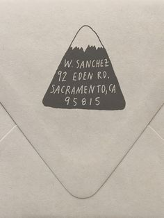 Mountain Return Address Custom Stamp | Sycamore Street Press