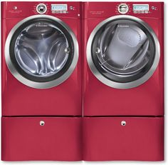 Red Hot Electrolux Front Load Steam Washer & Steam Dryer want this! Doing Laundry, Laundry Room, Laundry Decor, Red Washer And Dryer, Gas Dryer, Front Load Washer, Nebraska Furniture Mart, Text Pictures, Vinyl Wall Art