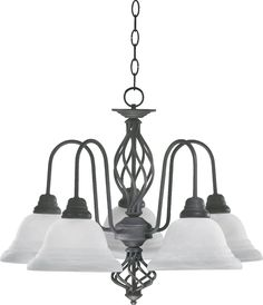South Shore Decorating: Quorum Lighting 6454-5 Twist 5-Light Transitional Chandelier QR-6454-5