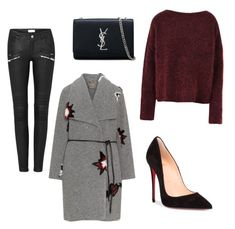 """""""Cozy winter look"""" by andreea-mateescu-i ❤ liked on Polyvore featuring 8, Open End, Christian Louboutin, Yves Saint Laurent, girlpower and powerlook"""