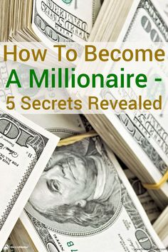 Do you want to learn the secret of how to become a millioniare? Jaime Tardy interviewed over 120 millionaires to discover the answer and she found 5 factors that influence your odds of success. Discover them here. Financial Literacy, Financial Goals, Make Money From Home, How To Make Money, Investment Advice, Become A Millionaire, Secrets Revealed, How To Become Rich, Investing Money