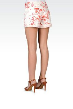 Bermuda Donna Armani Jeans - SHORTS IN COTONE STRETCH Armani Jeans Official Online Store