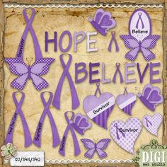 Awareness Ribbons (Purple) 1 - Clip Art by Leah Rae : Digi Web Studio, Clip Art, Printable Crafts & Digital Scrapbooking! Types Of Ovarian Cancer, Ovarian Cancer Symptoms, Epilepsy, Lupus Awareness, Social Awareness, Pulmonary Hypertension, Invisible Illness, All Things Purple, Awareness Ribbons