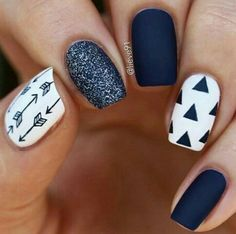 dark blue nails #unasdecoradas
