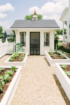 Raised Garden Beds Discover Blooming Ivy Lane Farmhouse Home Tour Farmhouse Living Classic Farmhouse Home Tour - White Potting Shed - White Raised Beds - Modern Garden - Farmhouse Backyard - Modern Farmhouse Yard - Backyard Landscape Farmhouse Landscaping, Farmhouse Garden, Farmhouse Homes, Backyard Landscaping, Farmhouse Style, Farmhouse Decor, Farmhouse Sheds, Modern Farmhouse Design, Rustic Decor