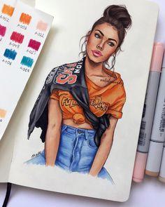 Madison Beer drawing by Natalia Madej Teenage Drawings, Tumblr Drawings, Girly Drawings, Pencil Art Drawings, Realistic Drawings, Love Drawings, Drawing Sketches, Black Love Art, Black Girl Art
