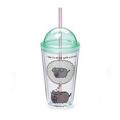 GUND Pusheen 16 oz Tumbler Hand wash only. Bpa-free plastic tumbler cup featuring high-quality graphics from a popular pusheen comic. Removable, secure dome lid as well as a removable plastic straw to help avoid messes. Appropriate for ages Gato Pusheen, Pusheen Stuff, Grey Tabby Cats, Bpa Frei, Tumbler With Straw, Plastic Tumblers, Entertainment, Tumbler Cups, Classic Toys
