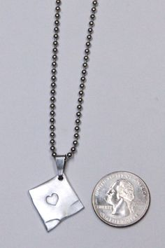 Upcycled Personalized Aluminum Handstamped Heart Necklace on Etsy, $7.00