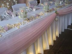 A white wedding with Baby Pink