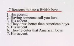 "British men...(yeah, you knew I would have to repin - I married a British ""boy"" - his accent...)"