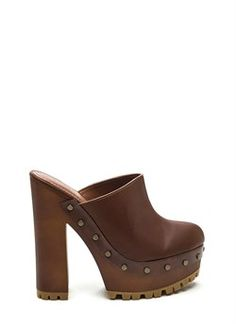 70s Take Faux Leather Clog Heels From The Plus Size Fashion Community At www.VintageAndCurvy.com