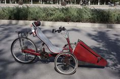 recumbent trike with linear reciprocal drivetrain