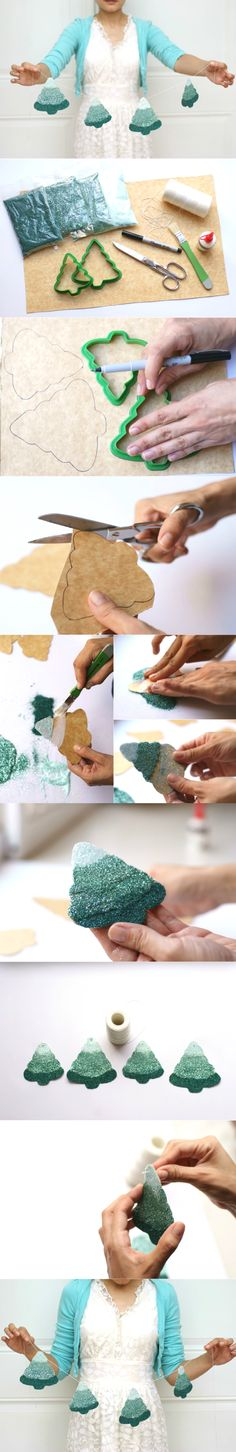 DIY: Garland with Ombré Christmas trees - Cómo hacer una Guirnalda de Pinitos en Ombré | DIY Christmas Garland | Christmas | Create this DIY Christmas garland. #Christmas