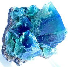 Fluorite under long wave UV; Rogerley Mine, Country Durham, United Kingdom