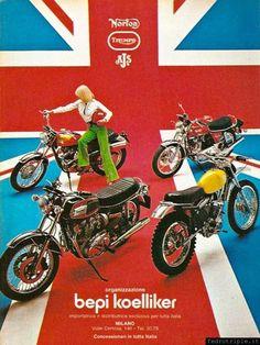 The Brits.    Vintage Italian ad.