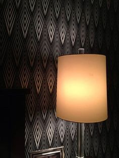 Stunning stenciled wall alert! African Plumes Stencil on bedroom walls by creative customer Mary Dickenson