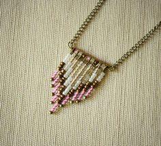 beaded necklace tutorial on pinterest | DIY Tutorial: DIY Tribal Jewelry / Chevron Beaded Necklace Tutorial