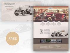 Free Vintage Car Template by creativegeek