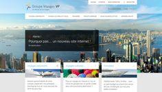 Groupe Voyages VP - Website Redesign on Behance Tahiti, Travel Agency Website, Portfolio Website Design, Site Internet, Behance, Management, Travel