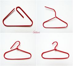 Mini clothes hanger with a paperclip - so that's how you do it!