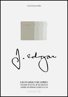 J. Edgar (2011) ~ Minimal Movie poster by Mads Svanegaard #amusementphile