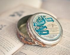 Antique French Tin Box