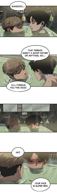 "Sangwoo (상우) and Yoon Bum (윤범) from ""Killing Stalking (킬링 스토킹)"", by Koogi (쿠기)."