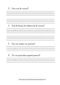 Dossier de gramatica Wordpress, Valencia, School, Anna, Reading Comprehension, Spelling Activities, Poems, Reading