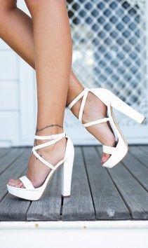 Mariah Heels (white) - WINDSOR SMITH #promheels3inch #promheelswhite