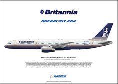 Britannia Airways Boeing 757-204 G-BYAX cn: 28834/850 in original Britannia Colours prior to Thomson Airways