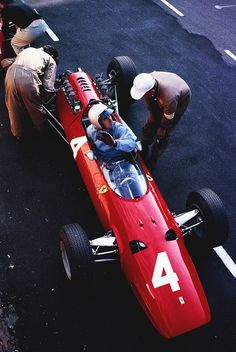 "frenchcurious: ""Lorenzo Bandini (Ferrari) Grand Prix d'Italie - Monza 1965 - source F1 History & Legends. """