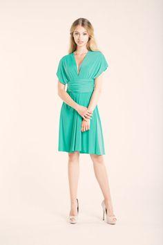 cb3db9b99a5 Light turquoise bridesmaid infinity dress short light by mimetik Turquoise Bridesmaid  Dresses