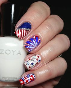 16 gorgeous fourth of july nail art designs you can do yourself 4th of july nail art digit al dozen countries theme america sassy shelly solutioingenieria Choice Image