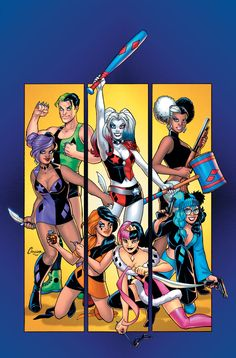 Harley Quinn and Her Gang 1 by battle810.deviantart.com on @DeviantArt - More at https://pinterest.com/supergirlsart/ #dccomics #harleyquinn #amandaconner #dc #comics