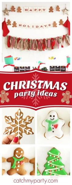 Check out this awesome Christmas cookie party! The mix of cookies are wonderful!! See more party ideas and share yours at CatchMyParty.com  #cookies #christmasparty