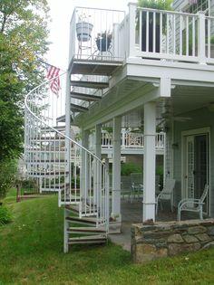 Outdoor+Spiral+Deck+Stairs | ... - Steel Spiral staircase - Virginia - Iron Spiral Stair - VA - Metal