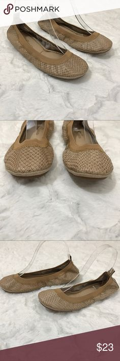 Yosi samra snake skin leather flats ballet Tan