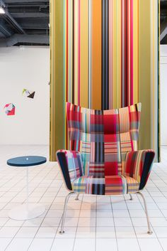 Designtex Wallace + Sewell chair and wallcovering