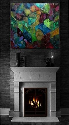 Extra Large Canvas Wall Art Picture Print Abstract  Flower Blue Black White BK24