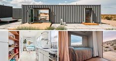 A Shipping Container House Makes The California Desert Its Home Small Shipping Containers, Shipping Container Home Designs, Container House Design, Contemporary Architecture, Architecture Details, Modular Housing, House Landscape, Desert Landscape, Desert Homes