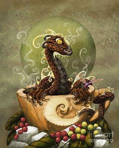 Dragon Coffee : dragon, coffee, Coffee, Dragons, Ideas, Dragon,, Coffee,, Dragon