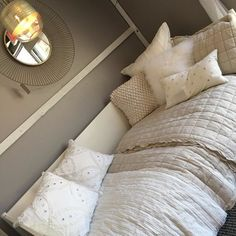 West Elm bedding and pillows