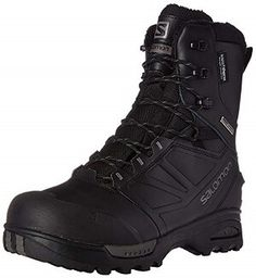 Salomon Men's Toundra Pro Cswp Snow Boot, Black/Black/Autobahn, 13 M US -- Check this awesome product by going to the link at the image. Warm Boots, Cool Boots, Winter Boots, Tactical Clothing, Tactical Gear, Hyuna Photoshoot, Fishing Boots, Ice Fishing, Mens Boots Fashion
