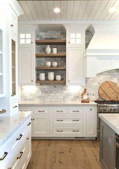 Cool 65 Modern Farmhouse Kitchen Cabinet Makeover Design Ideas