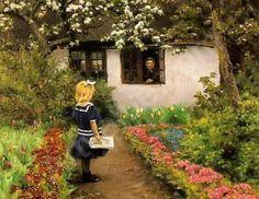 """Delivering The Letter"" by Hans Andersen Brendekilde (1857 – 1942, Danish)"
