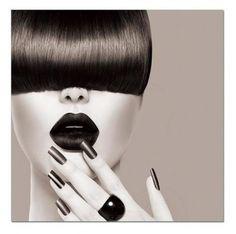 Stampa su Vetro Hair 80x80 cm Risoluzione HD