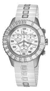 Christian Dior Women's Christal White Diamond Dial Watch - Love this... my next watch