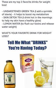 Three weight loss drinks.. #jjsmith